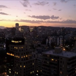 Sunset in Santiago Chile the richest city in south America (Aerial view Mavic Pro) - YouTube