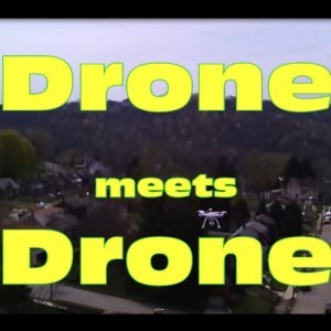 Drone meets Drone in air-Surprise! - YouTube