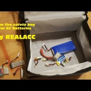 RC Battery Lipo Fire Safety Bag by Realacc - YouTube